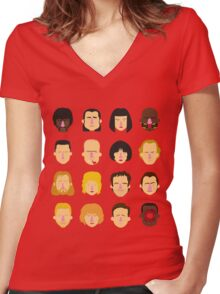 'Pulp Fiction' Women's Fitted V-Neck T-Shirt
