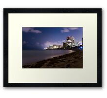 Miami shores at night Framed Print