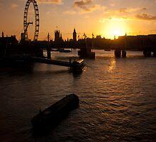 Sunset over london by photogenpix
