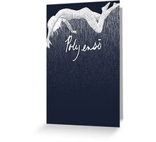 Falling in Rain Greeting Card