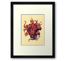 Octoheart Framed Print