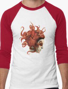 Octoheart Men's Baseball ¾ T-Shirt