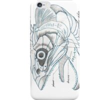Music sardine skull iPhone Case/Skin