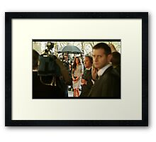 I Saw Her Walking By Framed Print
