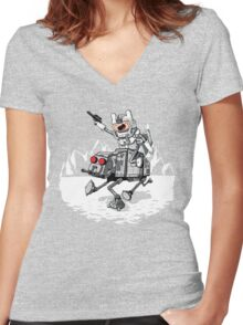 All Terrain Adventure Transport Women's Fitted V-Neck T-Shirt