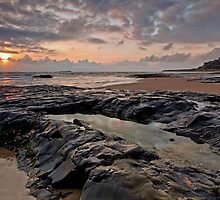 Sunrise over Bamburgh Castle, Northumberland by Martin Lawrence