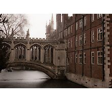 Bridge of Sighs, St. John's College, Cambridge Photographic Print