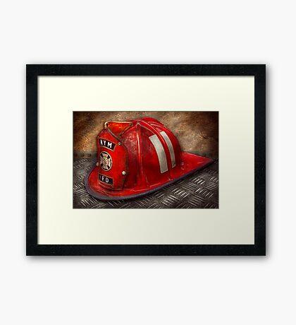 Fireman - A childhood dream Framed Print
