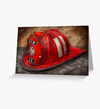 Fireman - A childhood dream Greeting Card
