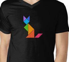 rave fox Mens V-Neck T-Shirt