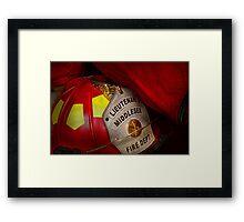 Fireman - Everyone loves red Framed Print