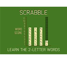 Scrabble Photographic Print