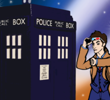 Back To The TARDIS Sticker