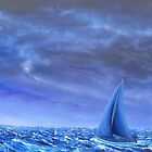 """""""Rider from the Storm"""" Image of an Oil Painting)  by LBMcNicoll"""