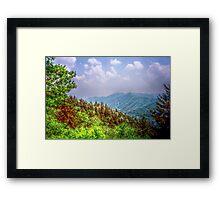 Valley Shot - North Carolina Framed Print