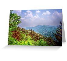 Valley Shot - North Carolina Greeting Card