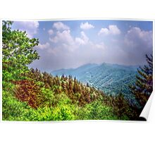 Valley Shot - North Carolina Poster