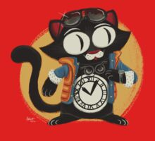 Time-Cat One Piece - Short Sleeve