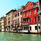 Pink and Red Venetian Buildings by Jewel Pfaffroth
