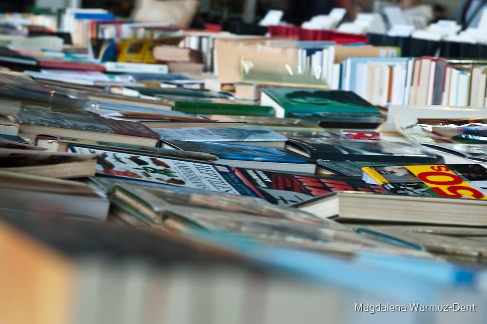 Books on table at book market/ book fair London South Bank by Magdalena Warmuz-Dent