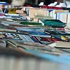 Books on table at book market/ book fair London South Bank by Magdalena Warmuz-Dent