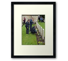 Half a World Away, the Young Give Thanks Framed Print