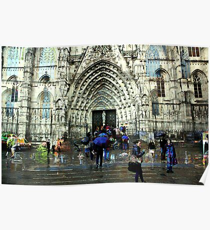 Memories of Spain 8 - Barcelona Cathedral (La Seu) Poster