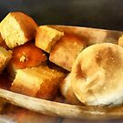 Cornbread and Rolls by Susan Savad