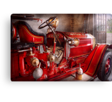 Fireman - Waiting for a call Canvas Print