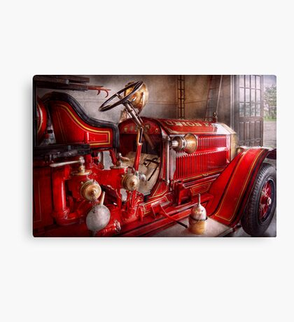 Fireman - Waiting for a call Canvas Print