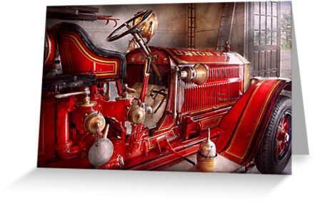 Fireman - Waiting for a call by Mike  Savad