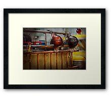 Fireman - Waiting for a Hero  Framed Print