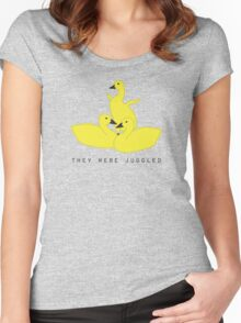 Baby geese - goslings! They were juggled! Women's Fitted Scoop T-Shirt