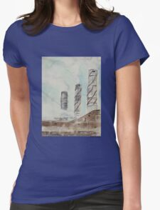 City Stacks Womens Fitted T-Shirt