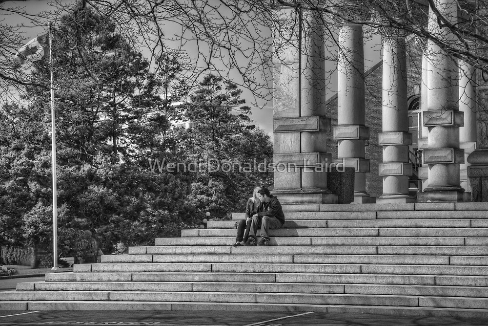 Spring Love on the Steps by Wendi Donaldson Laird