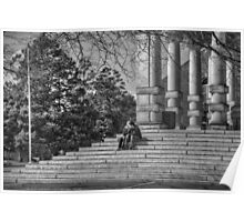 Spring Love on the Steps Poster