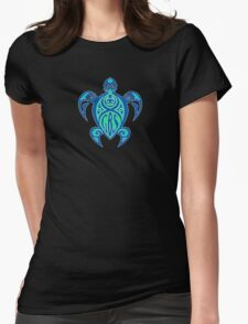 GBS Turtle Green & Blue Womens Fitted T-Shirt