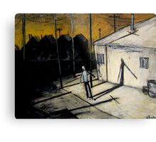 boy and shadow Metal Print