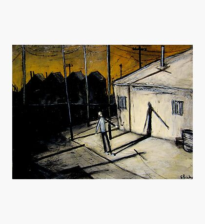 boy and shadow Photographic Print