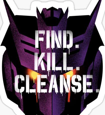 DJD - Find. Kill. Cleanse. Sticker