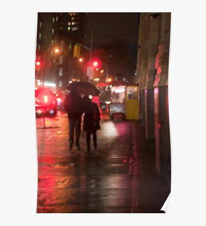 Couple In The Rain On John Street Poster