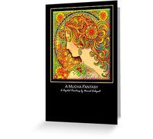 'A Mucha Fantasy', Titled Greeting Card or Small Print Greeting Card