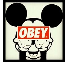 OBEY! Photographic Print