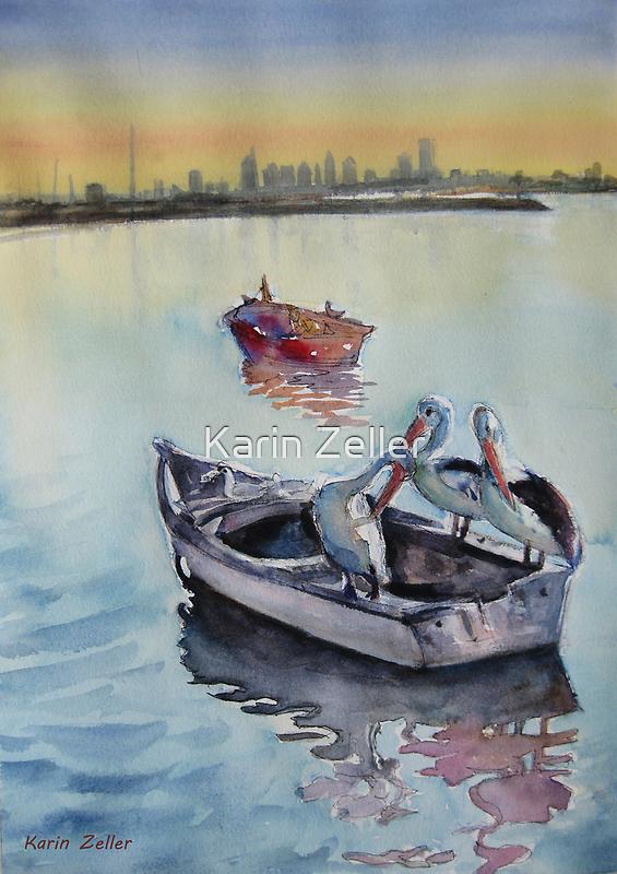 Three in a boat by Karin Zeller