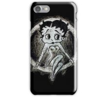 Betty Boop negative Scribble iPhone Case/Skin