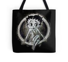Betty Boop negative Scribble Tote Bag