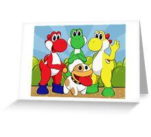 Yoshi Trio Greeting Card