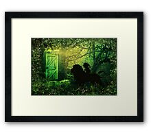 The Lion and the Wardrobe Framed Print