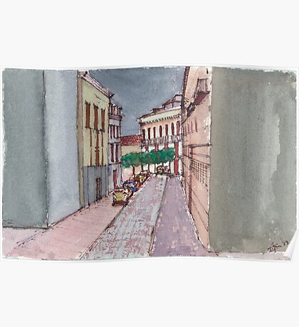 A Street in Seville Poster