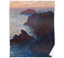 Rocks at Belle-lle, Port-Domois by Claude Monet Poster